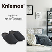 Knixmax Women's Slippers Memory Foam Grey Winter Slippers for Indoor Travel Hotel