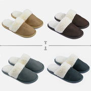 riemot Men's Slippers Memory Foam Light Grey Winter Slippers for Indoor Travel Hotel