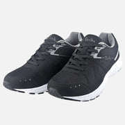 TIESTRA Walking Shoes for Men Running Shoes Black Outdoor Gym Fitness Trainer