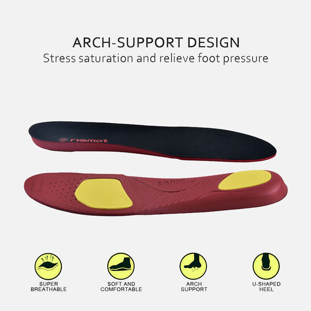 riemot Women's Orthotic Sport Insoles Black Full Length Inner Soles with Arch Support
