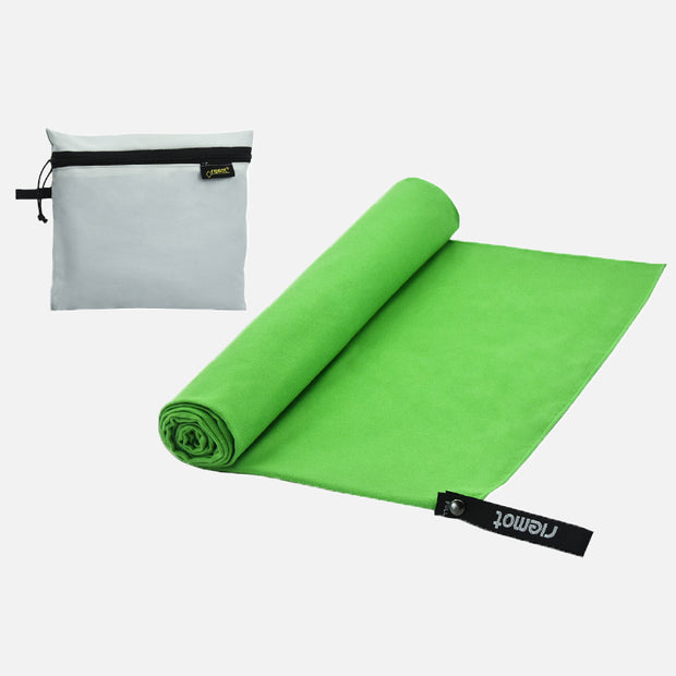 riemot Microfibre Green Towel Lightweight Quick Drying Absorbent For Travel Camping Backpacking Sports Fitness