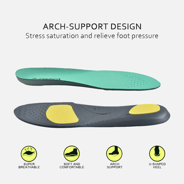riemot Women's Orthotic Sport Insoles Mint Green Full Length Inner Soles with Arch Support