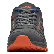 riemot Men's Hiking Shoes, Grey Orange, Lightweight Trail Running Shoes, Athletic Outdoor Trainers