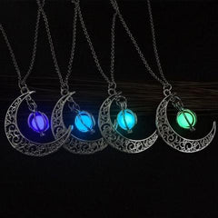 Collier lune histoire d or