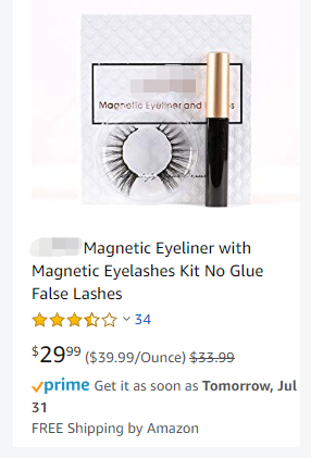 just virgin hair magnetic eyeliner with magnetic eyelashes kit no glue false lashes