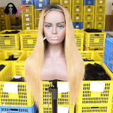 #27 Lace Front Wigs Black Hair 13*4 150% Density -- JVH