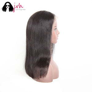 Real Human Hair Wigs For Black Women Natural Straight 13*4 150% Density -- JVH