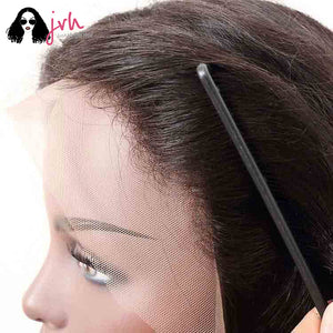 Jvh 100 Human Hair Lace Front Wigs With Baby Hair Natural Straight