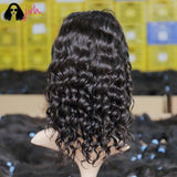 JVH 13X4 100% Virgin Human Lace Front Bob Wigs With Bangs Loose Wave