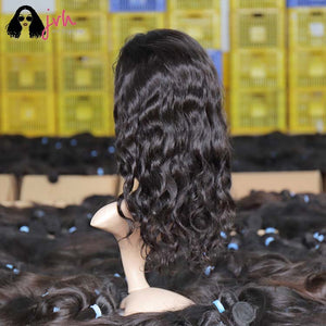 Cute Short Lace Front Wigs For Black Women With Baby Hair Bob Body Wave 13*4 150% Density -- JVH