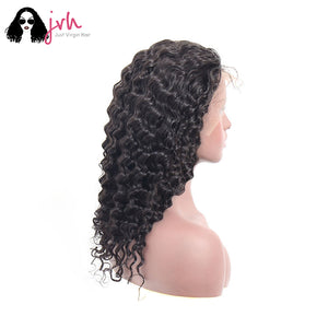 Human Hair Lace Front Wigs For Black Women Deep Wave 13*4 150% Density -- JVH