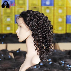 Jvh Very Soft Short Human Hair Wigs For Black Women On Sale Deep Wave