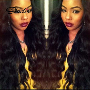 Studio remy human hair weave 3 loose wave bundles
