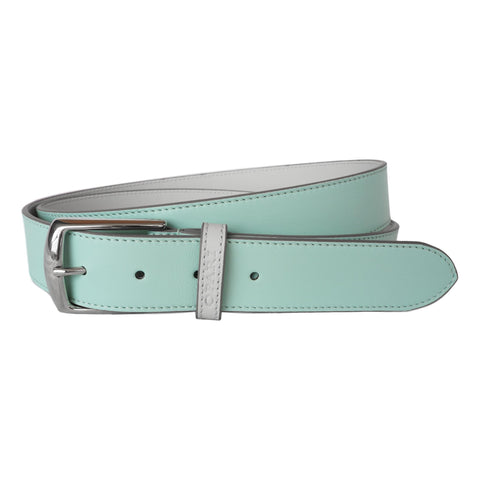 Aqua Leather Belt