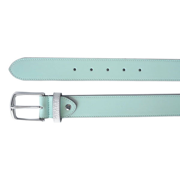 Beautiful Aqua Leather Belt