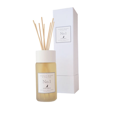 100% natural room diffuser, Sandalwood Bergamot & Ylang Ylang by Opari