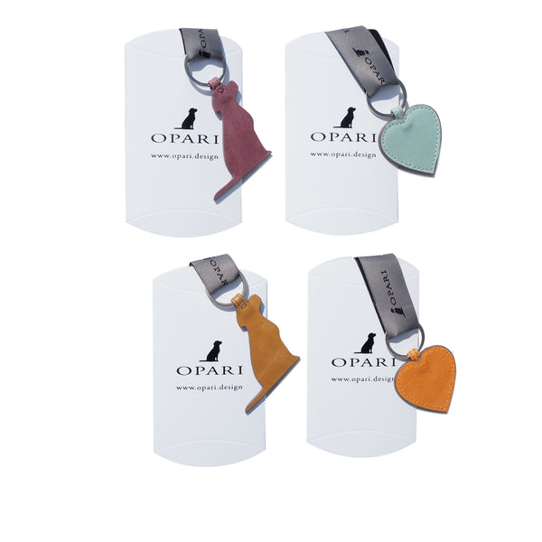 Opari Luxury Leather Dog Keyring Gifts