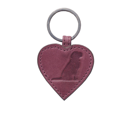 Opari Leather Raspberry Pink luxury Keyring