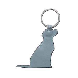 Opari Sky Blue Leather Labrador Keyring