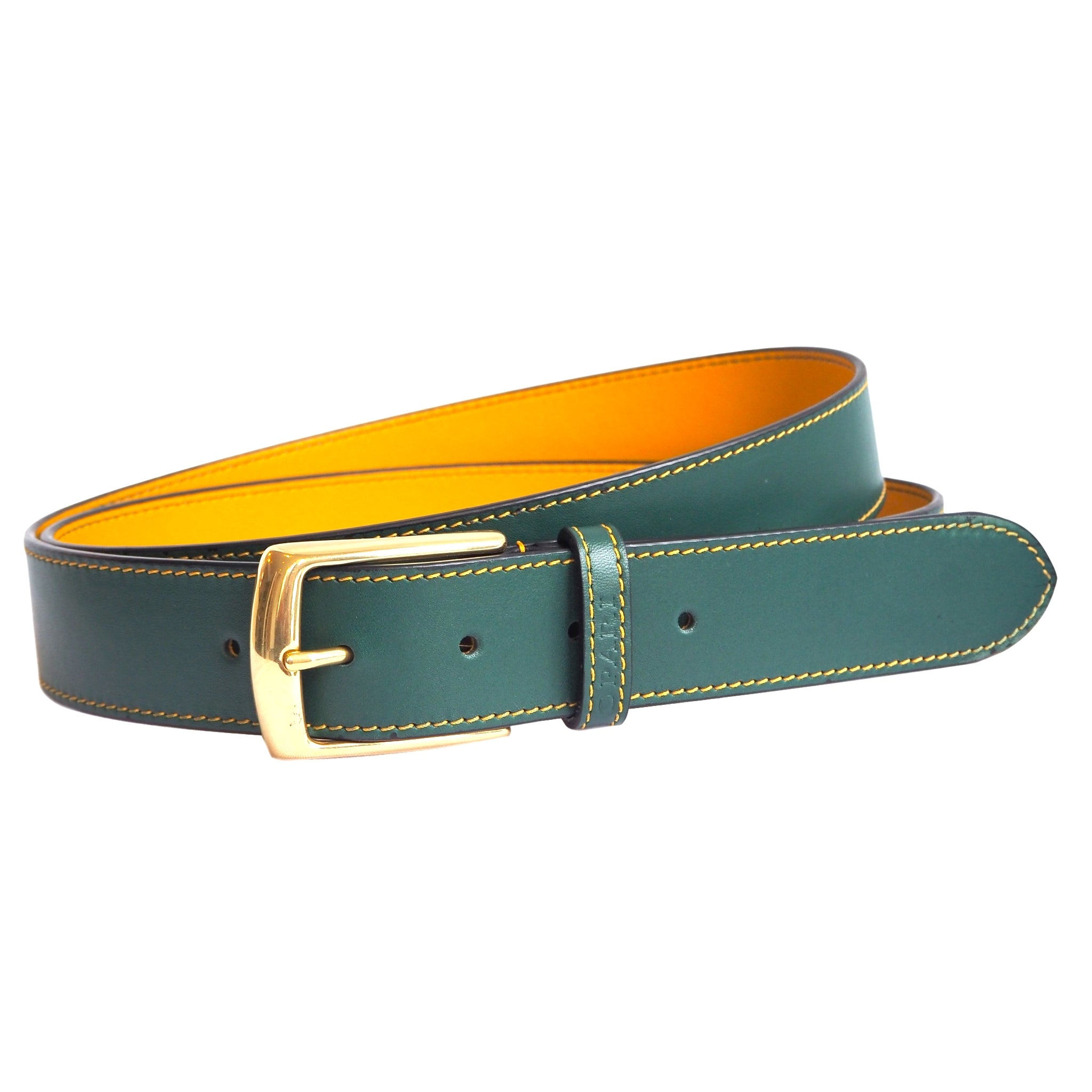 Stunning Forest Green Leather Belt by Opari