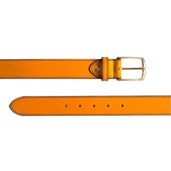 Ochre Leather Belt and matching Dog Collar by Opari