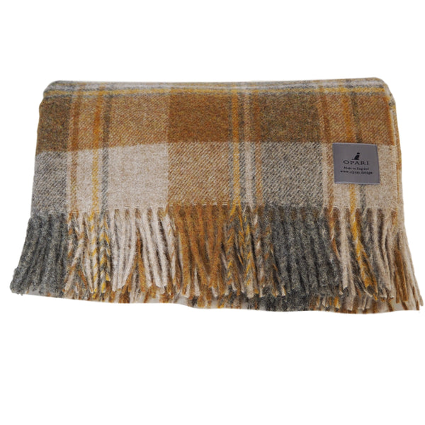 Ochre Town and Country Wool Throw/Blanket by Opari