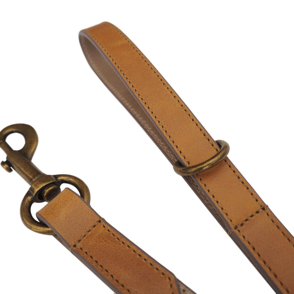 Tan & Taupe Leather Dog Lead by Opari