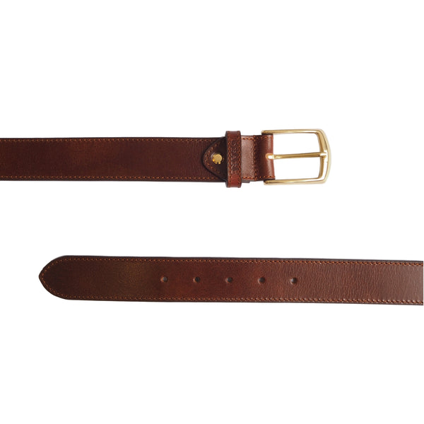 Twinning Walnut Brown Leather Belt and matching Dog Collar by Opari
