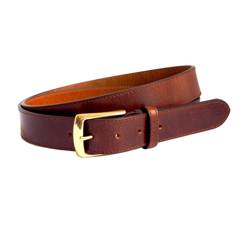 Walnut Brown Leather Belt