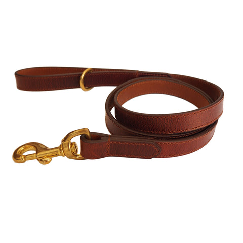Walnut Brown Leather Dog Lead by Opari
