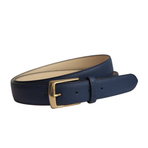 Navy Leather Belt by Opari