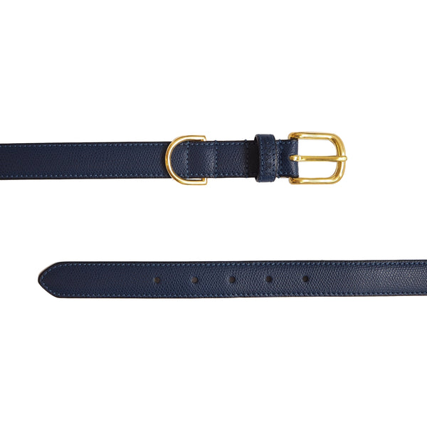 Luxury Leather Navy Dog Collar by Opari