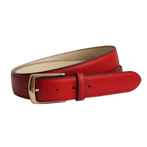Scarlet Red Leather Belt by Opari