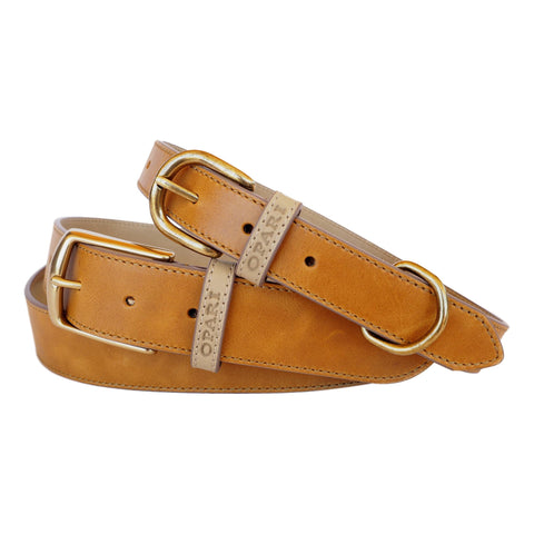 Tan Leather Belt and Dog Collar