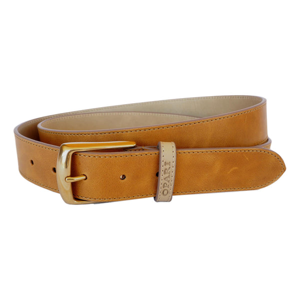 Tan Leather Belt and matching Dog Collar by Opari