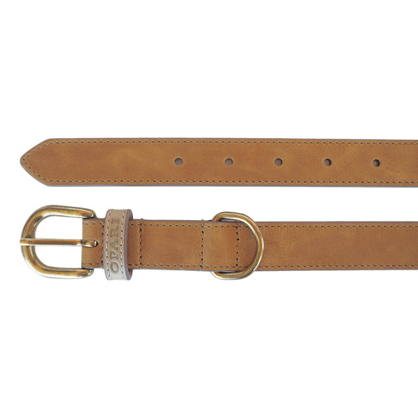 Tan Leather Dog Collar by Opari