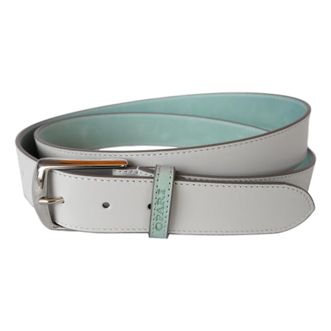 White Leather Belt by Opari