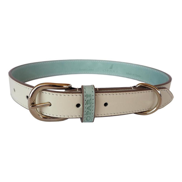White Leather Belt and Dog Collar