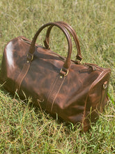 Load image into Gallery viewer, Duffle Bag - 2 tone leather