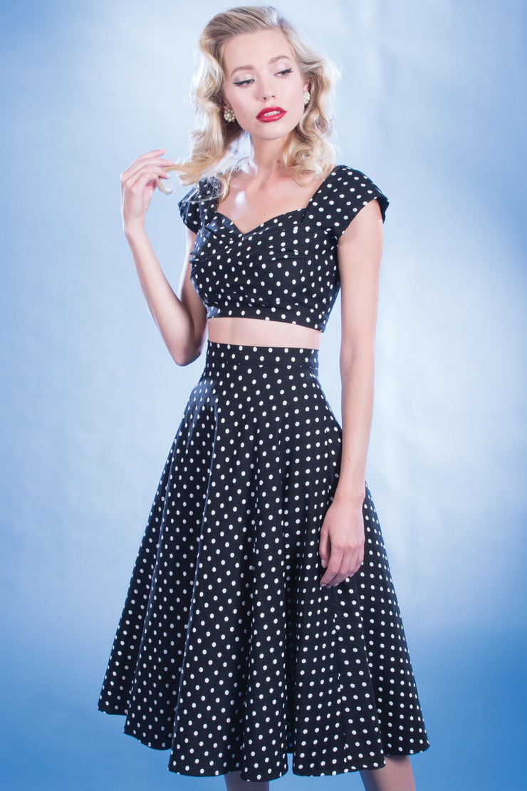 Vintage Beauty 2 Piece Top and Swing Skirt