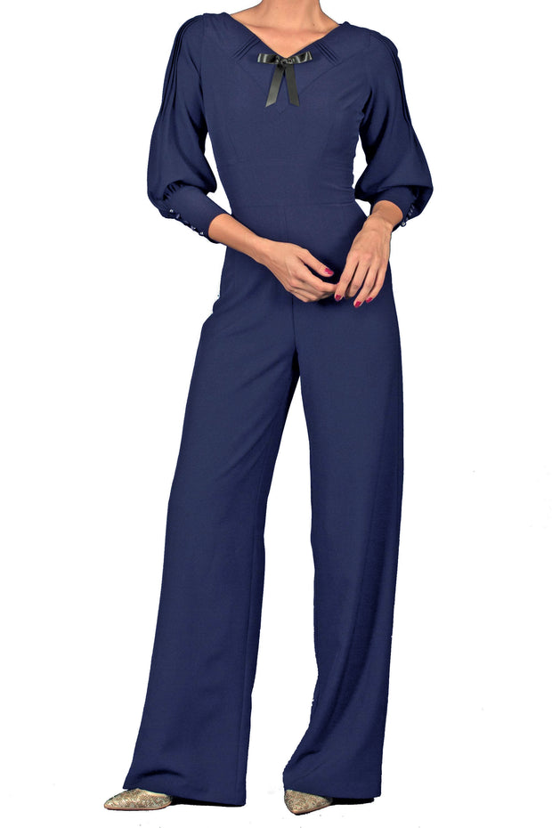 30's Vintage Pantsuit in Navy Custom