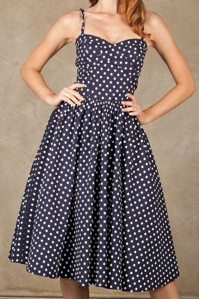 Amery Polka Dot Swing Dress