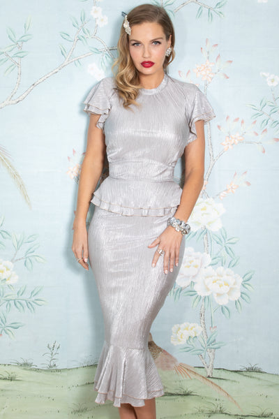 Amilia Dress in Silver Custom