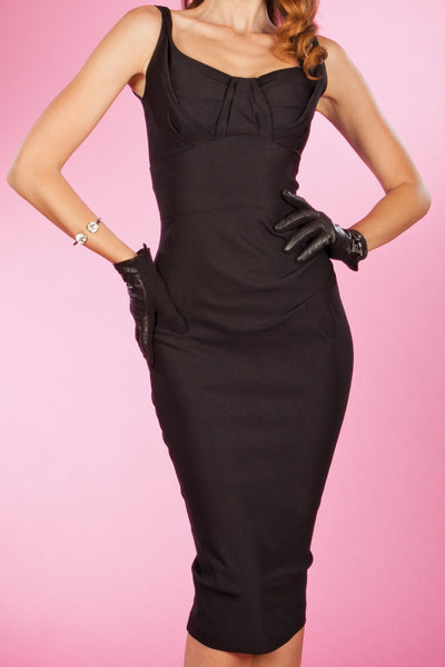 ARDEN FITTED DRESS BLACK,stopstaring.