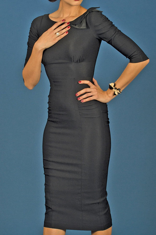 BELIZ BLACK FITTED DRESS,stopstaring.