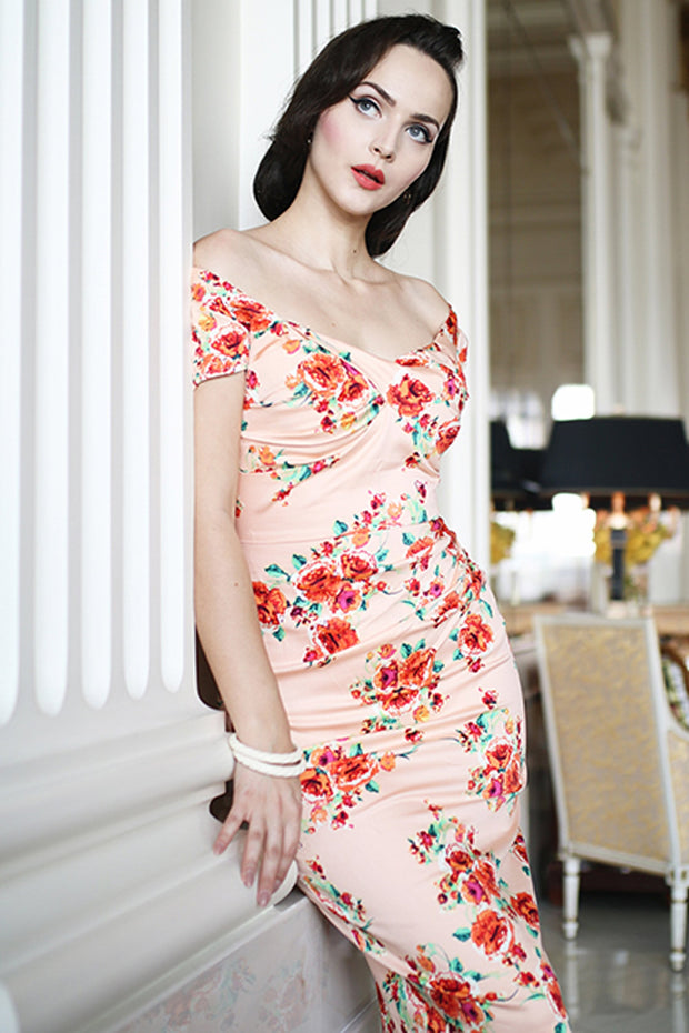 Billionaire Floral Fitted Dress