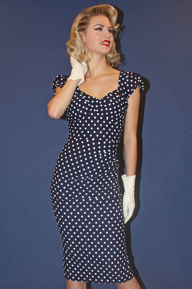 Billon Dollar Dot Fitted Dress,stopstaring.