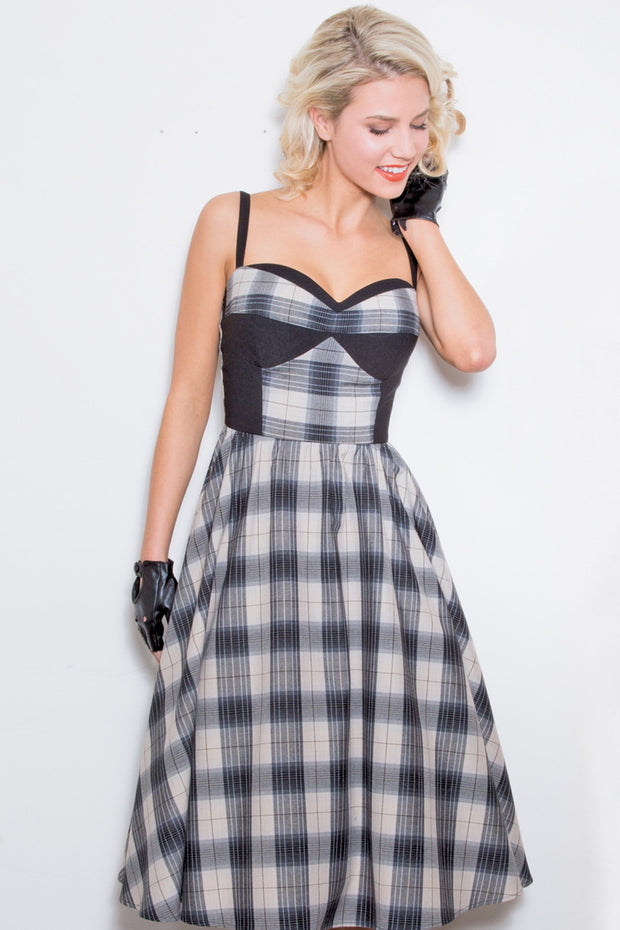 BRMBL Plaid Swing Dress,stopstaring.
