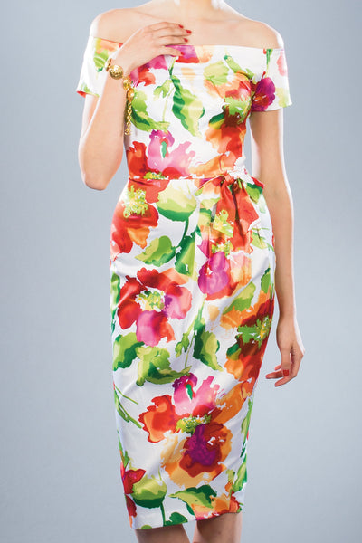 Charleston Floral Fitted Dress