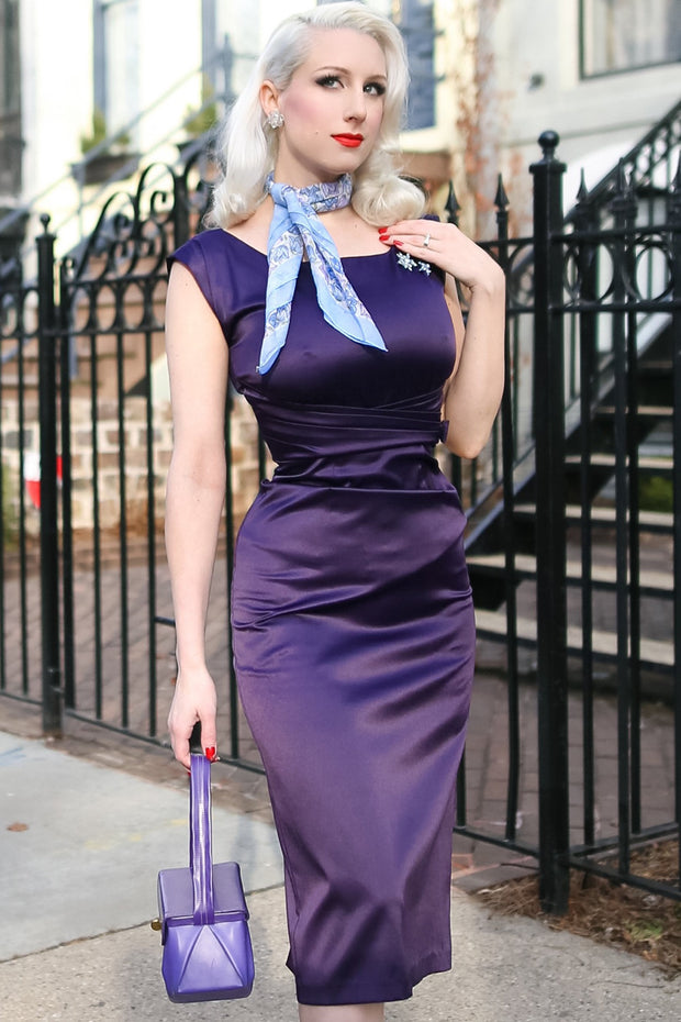 Charity Satin Fitted Dress